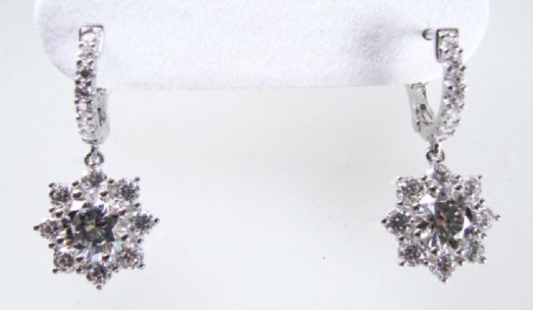 Earrings Creation Diamond 3.85Ct 18k W/g Overlay