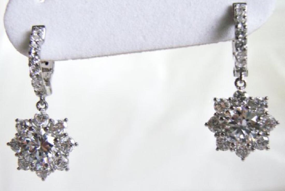 Earrings Creation Diamond 3.85Ct 18k W/g Overlay - 2