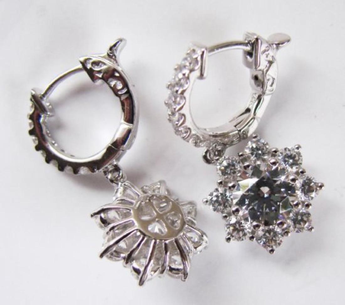 Earrings Creation Diamond 3.85Ct 18k W/g Overlay - 3