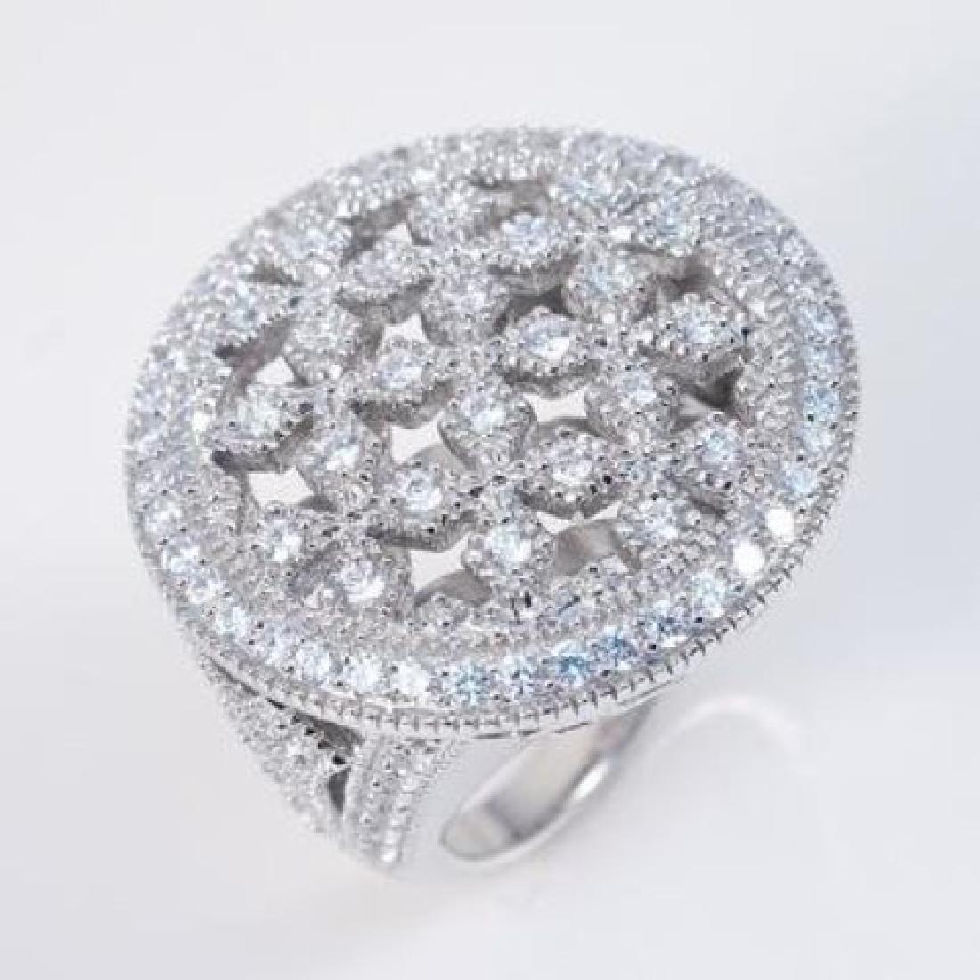 Antique Ring Diamonds Creation 2.00ct 8k W/g Over