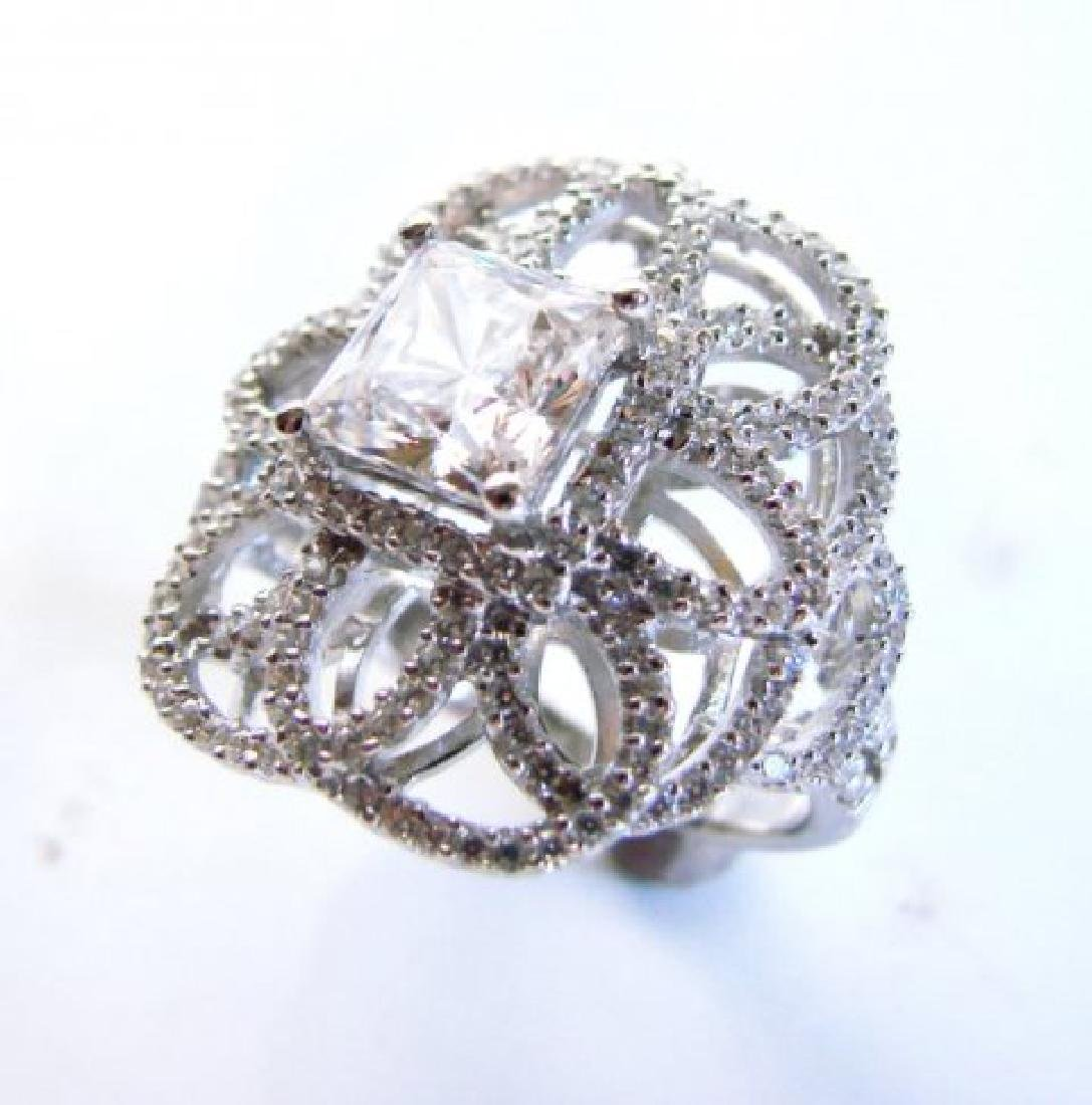Vintage Ring Creation Dia: 4.20ct 18k W/g Over - 2