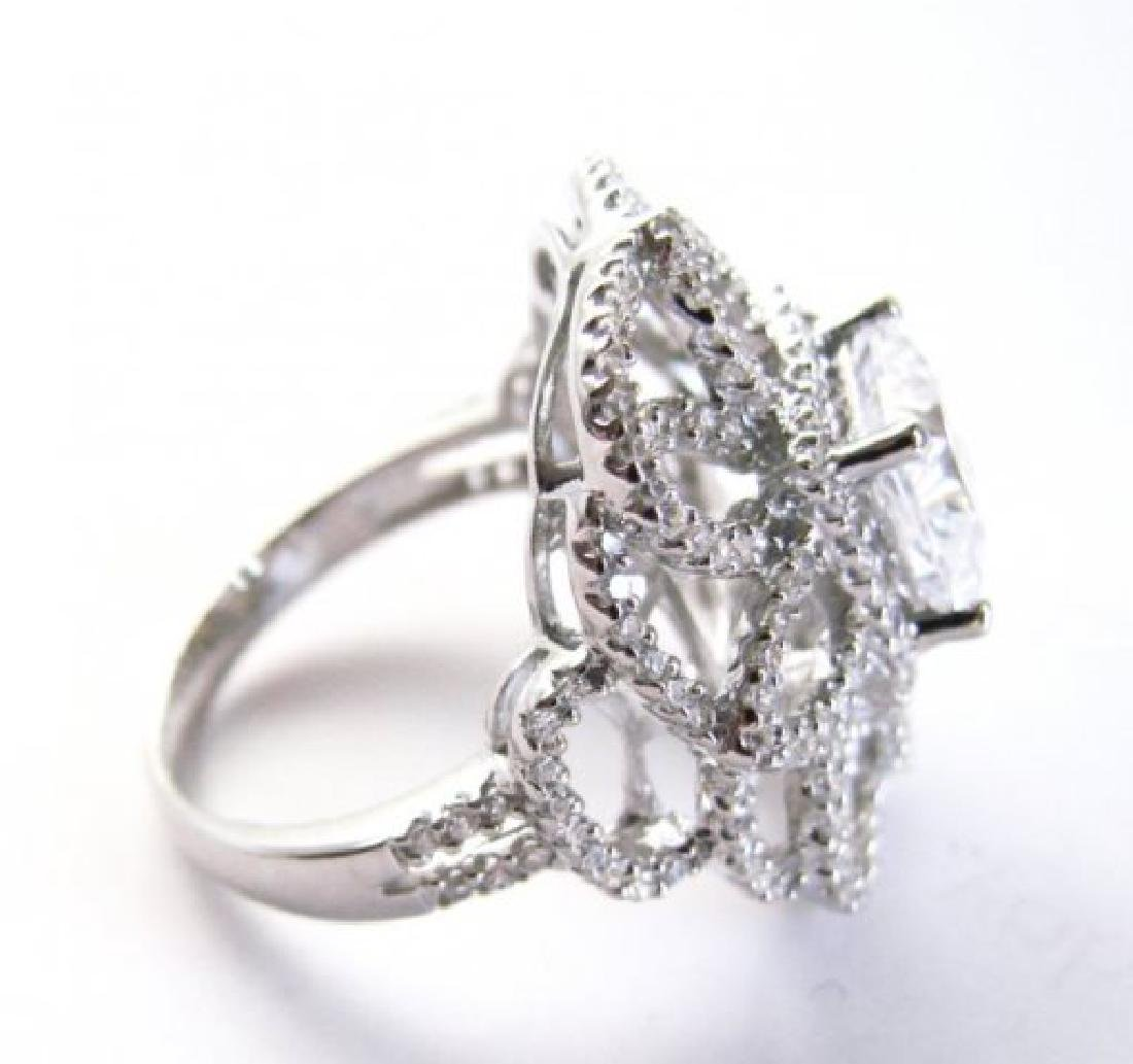 Vintage Ring Creation Dia: 4.20ct 18k W/g Over - 4