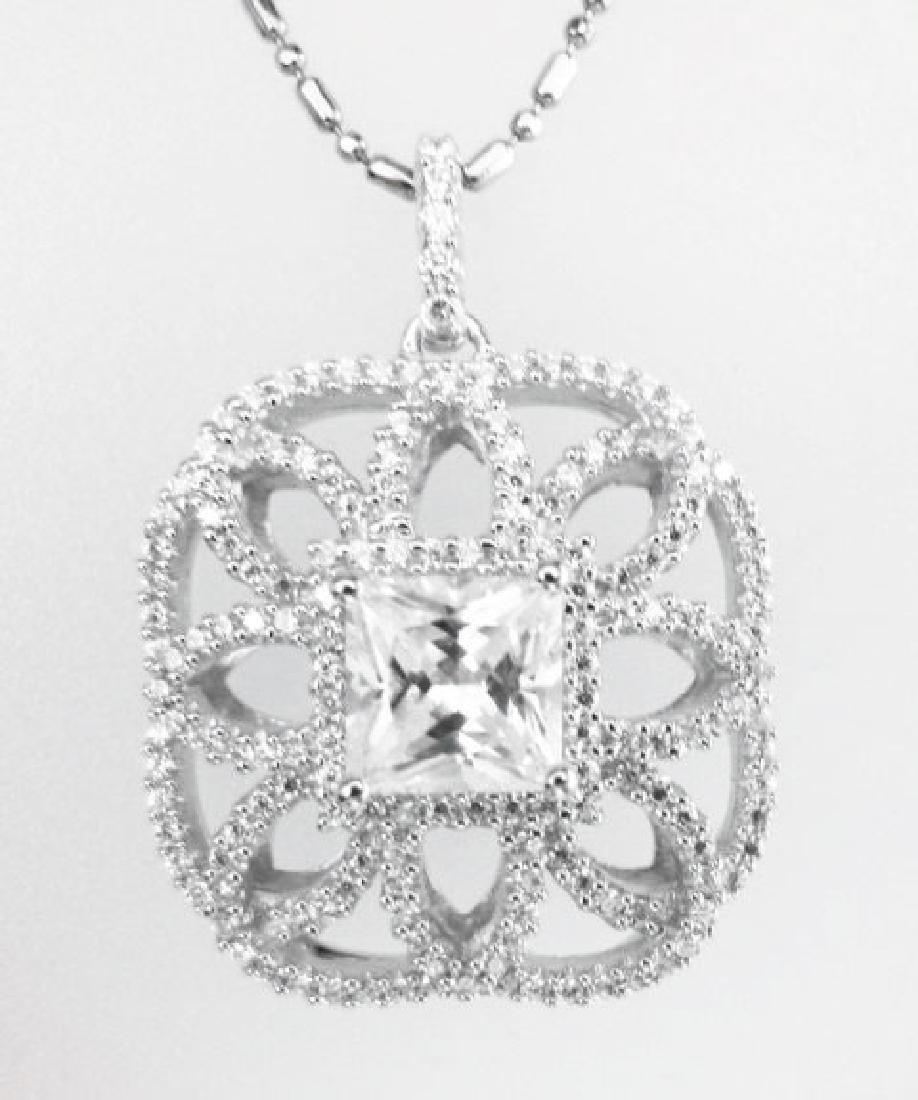 Pendant Diamonds Creation 4.05ct 18k W/g Overlay