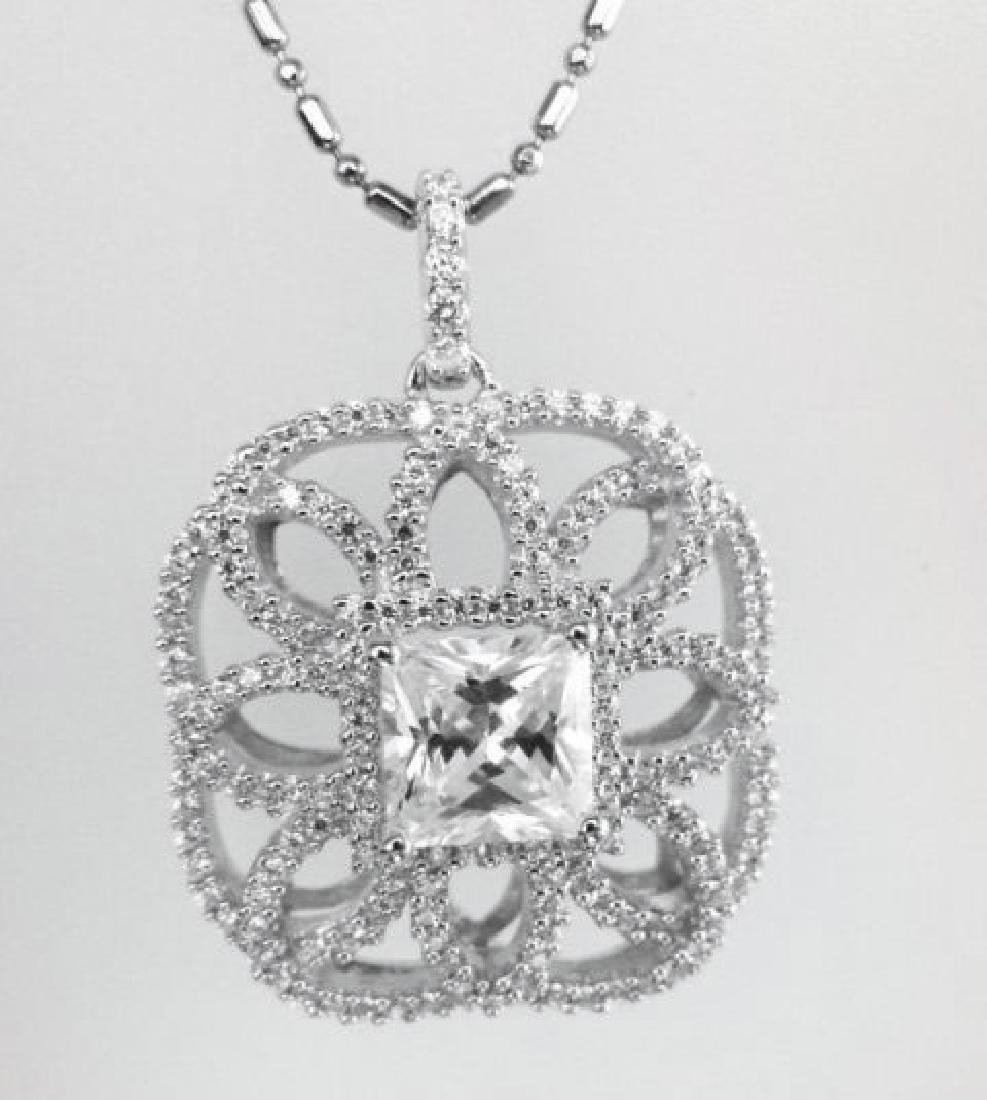 Pendant Diamonds Creation 4.05ct 18k W/g Overlay - 2