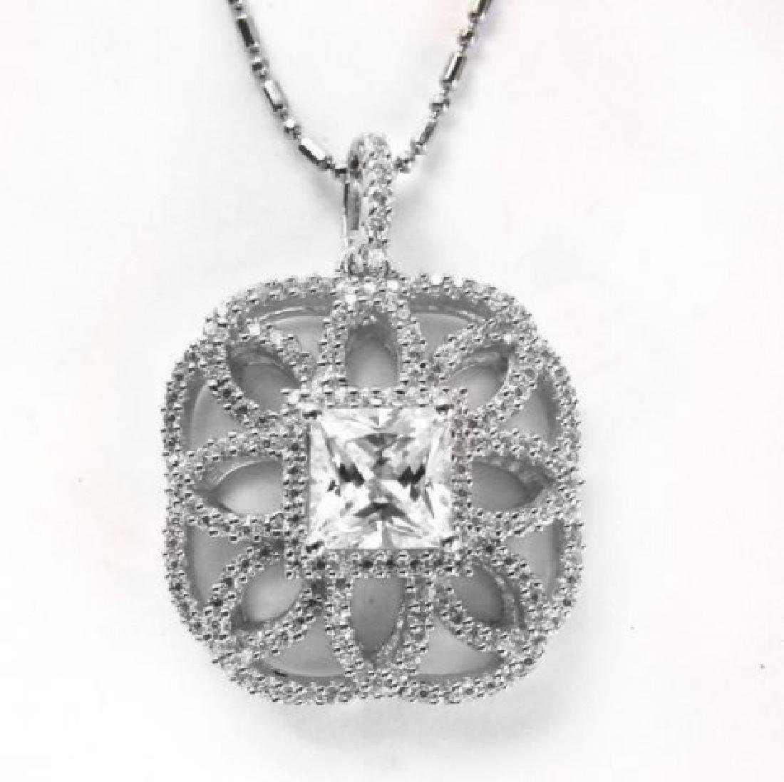 Pendant Diamonds Creation 4.05ct 18k W/g Overlay - 3