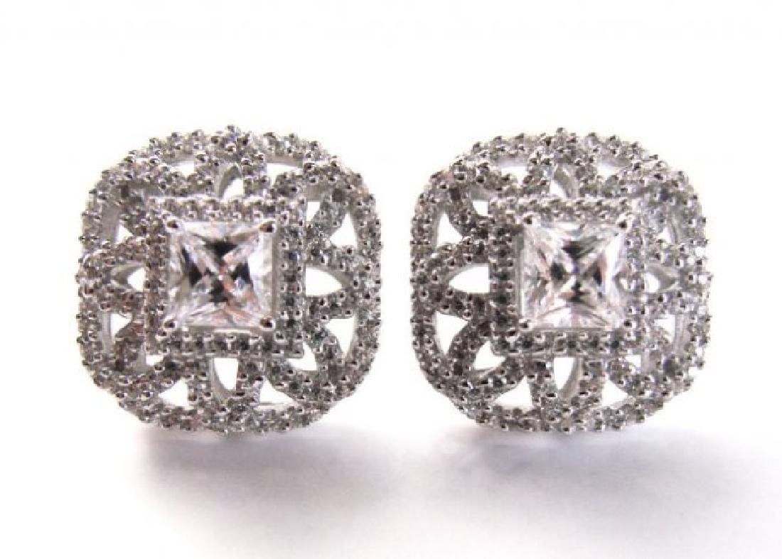 Earring Diamonds Creation 3.25ct 18k W/g Overlay
