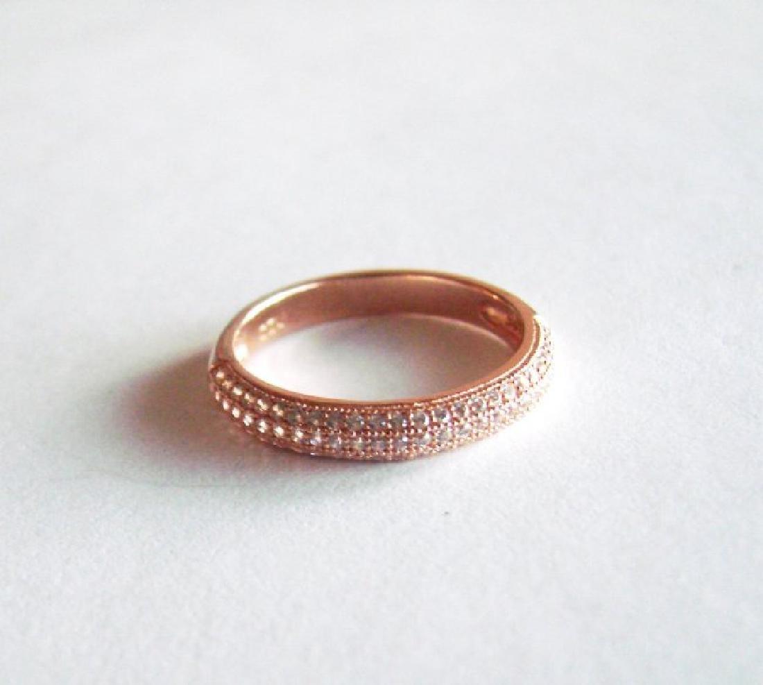 Creation Diamond Ring .90Ct 18k R/g Ovelay