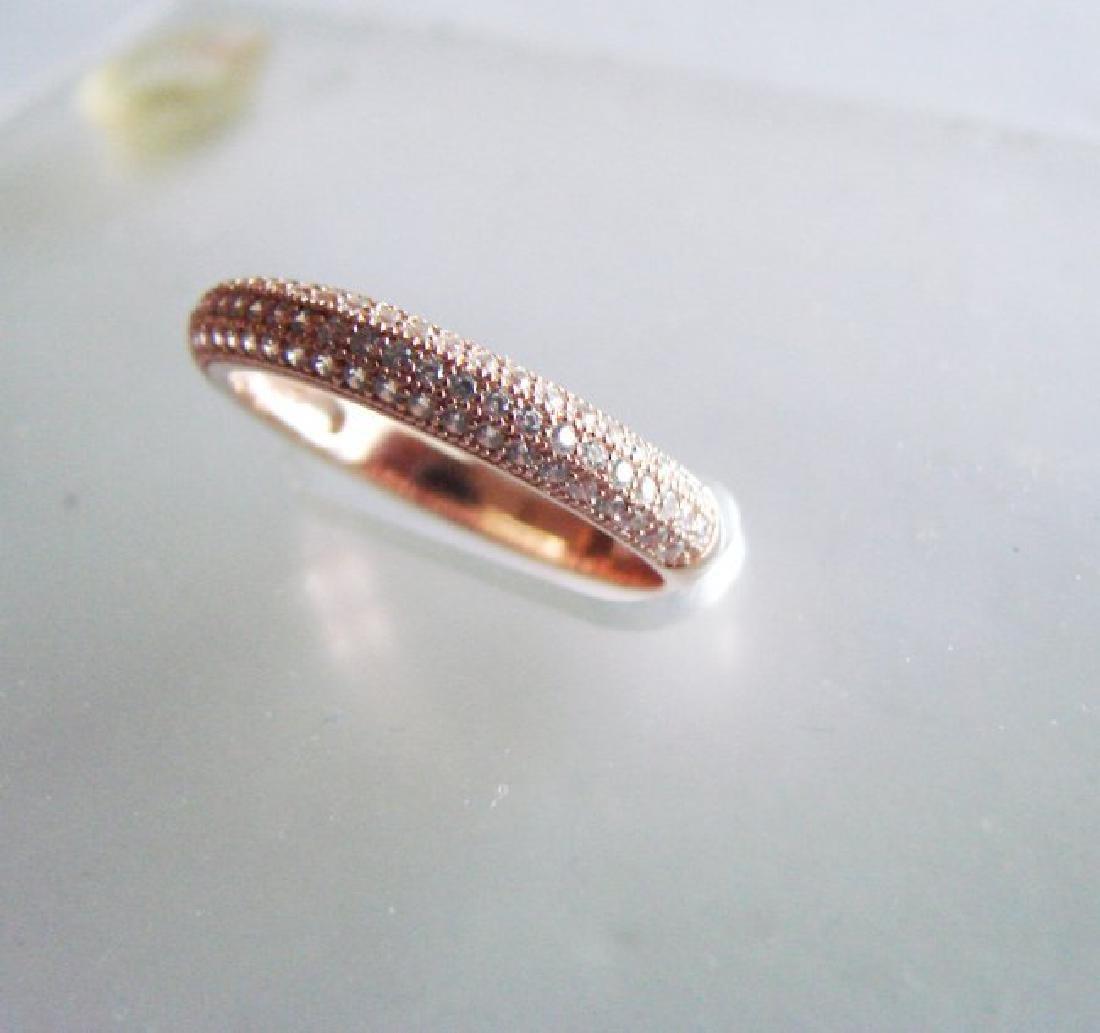 Creation Diamond Ring .90Ct 18k R/g Ovelay - 2