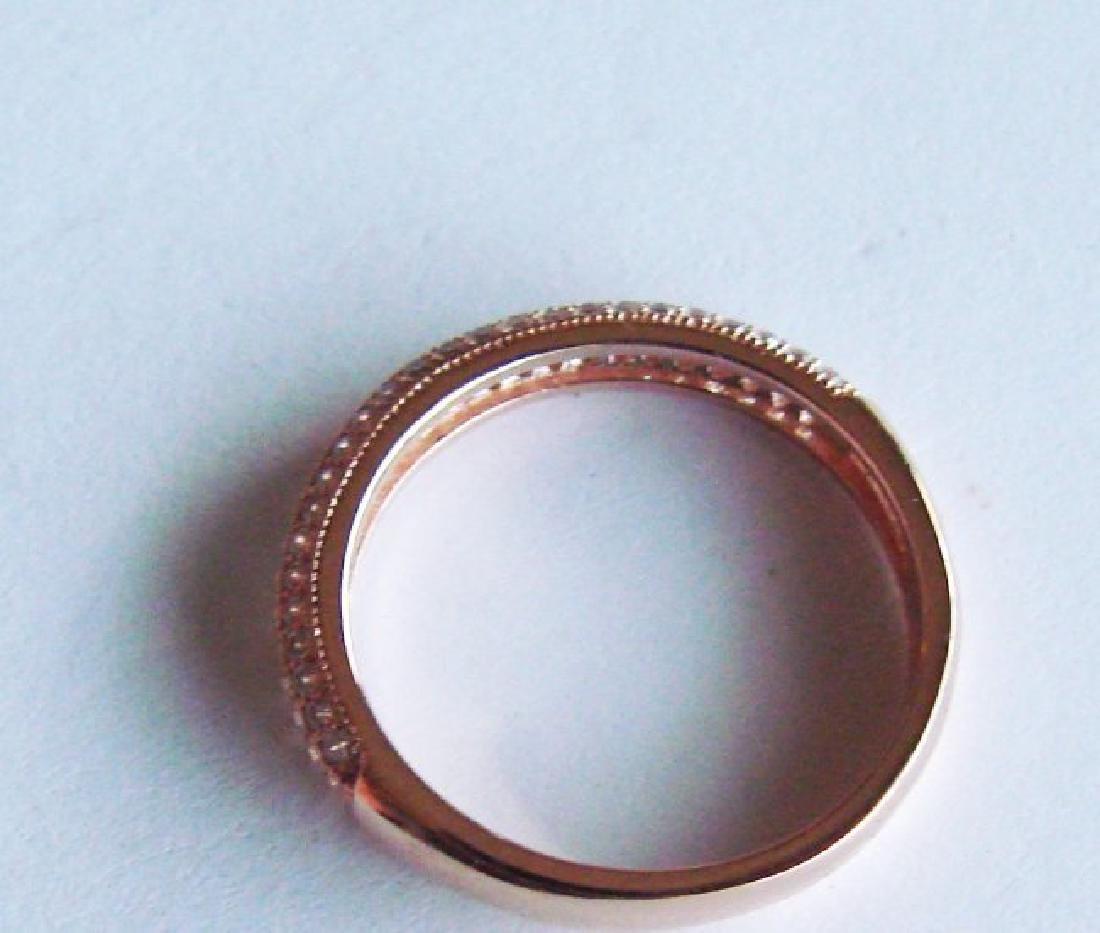 Creation Diamond Ring .90Ct 18k R/g Ovelay - 3
