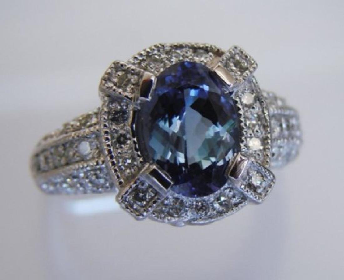 Nature Tanzanite & Diamond Ring 4.87 Ct14k Y/g