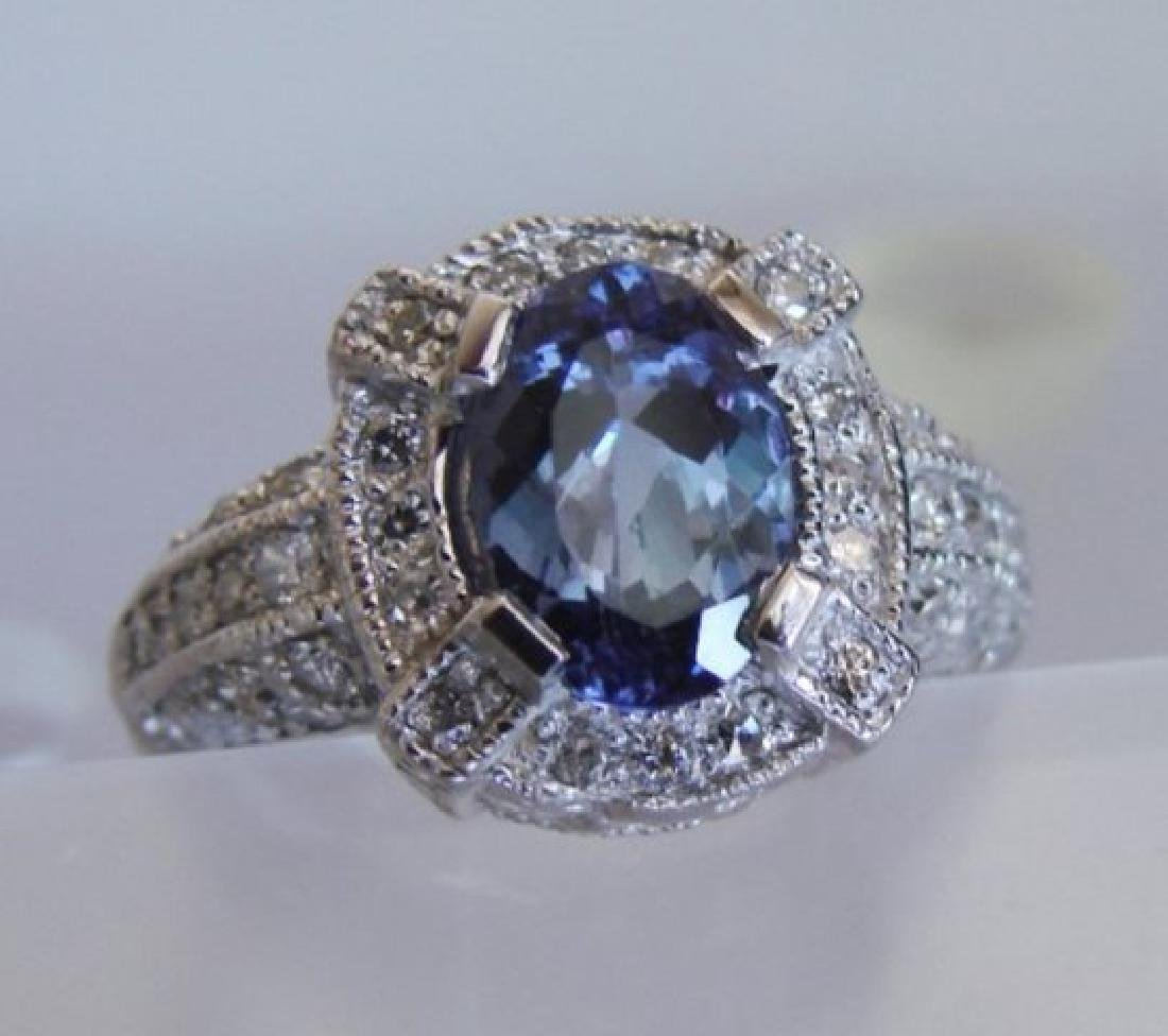 Nature Tanzanite & Diamond Ring 4.87 Ct14k Y/g - 2