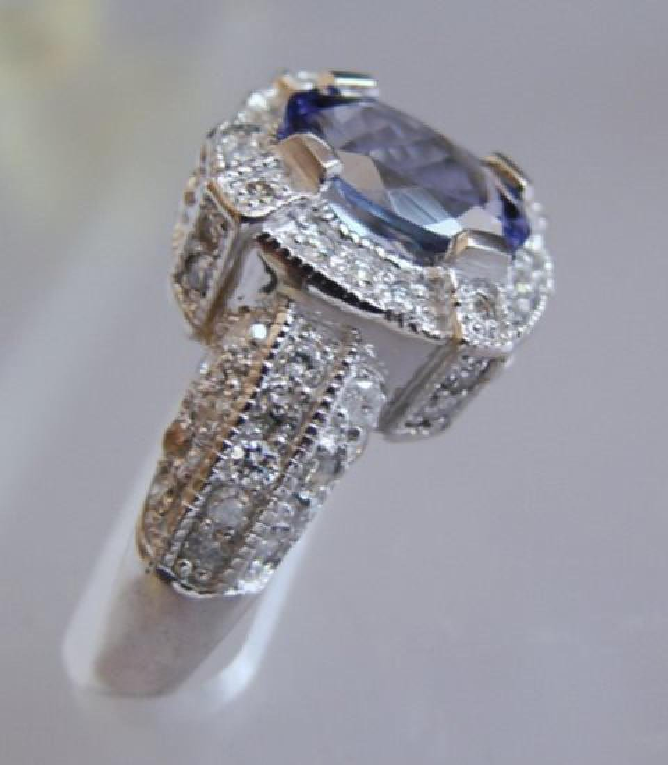 Nature Tanzanite & Diamond Ring 4.87 Ct14k Y/g - 3