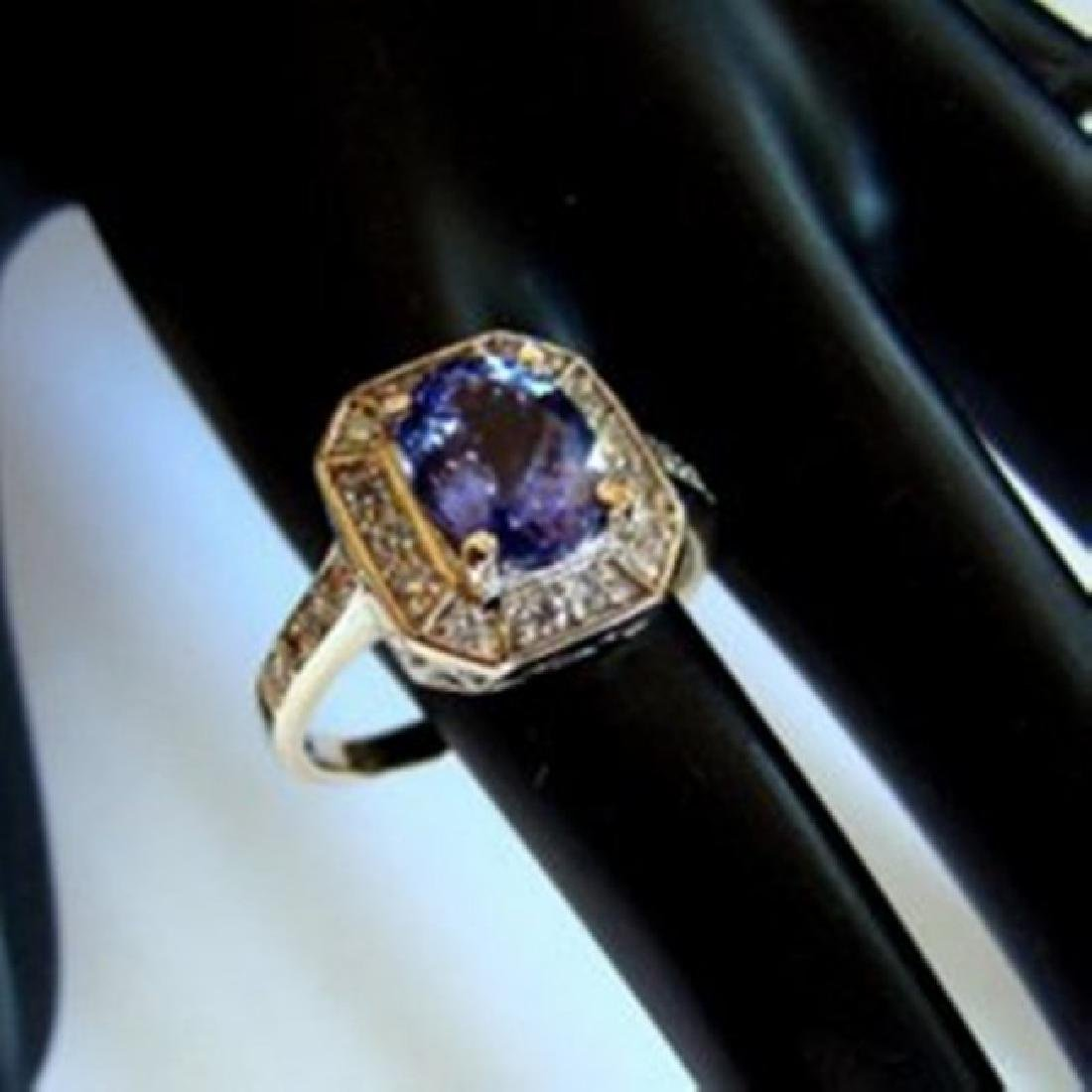 Nature Tanzanite & Diamond Ring 4.87Ct 14k Y/g - 3