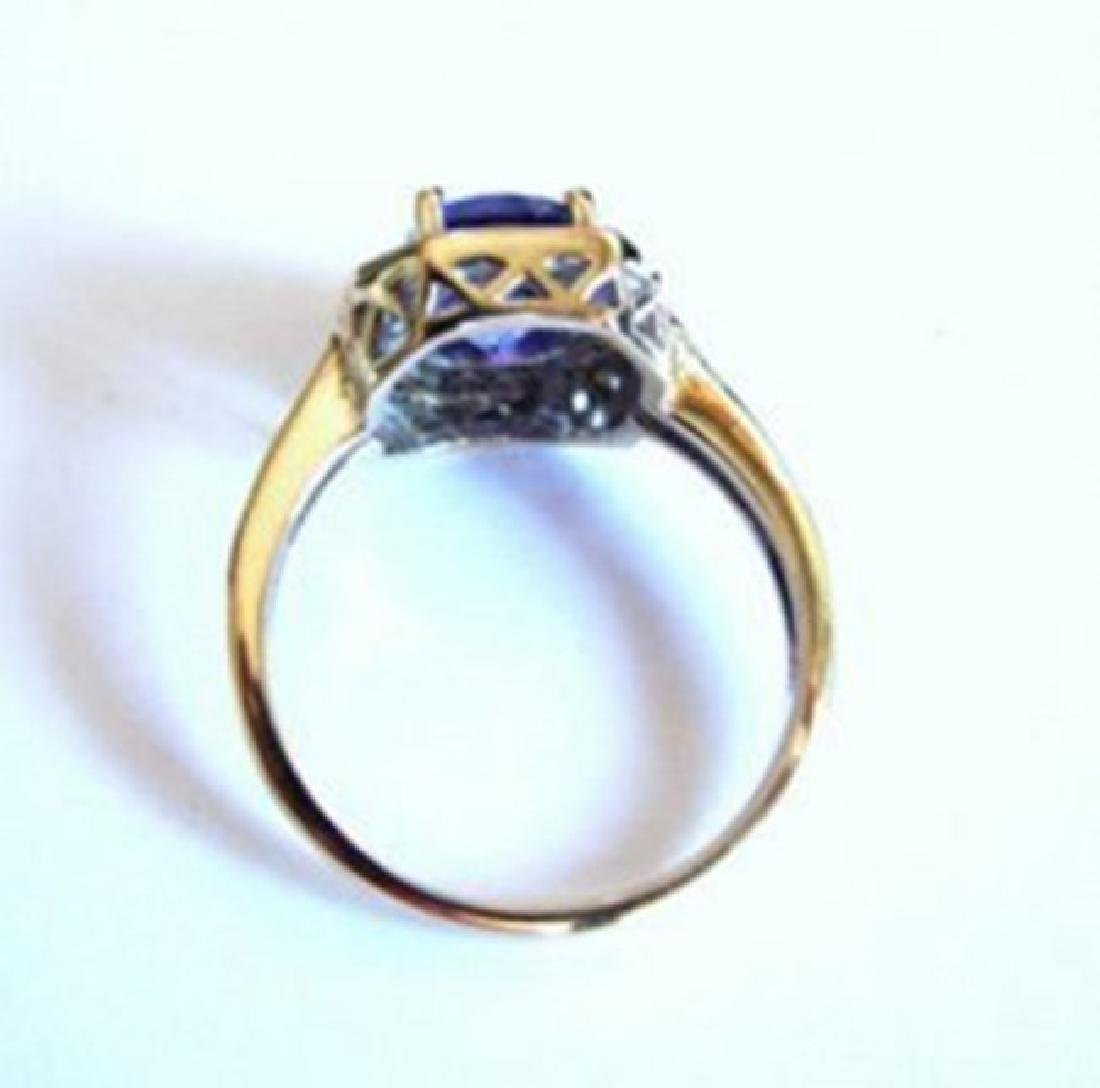 Nature Tanzanite & Diamond Ring 4.87Ct 14k Y/g - 5