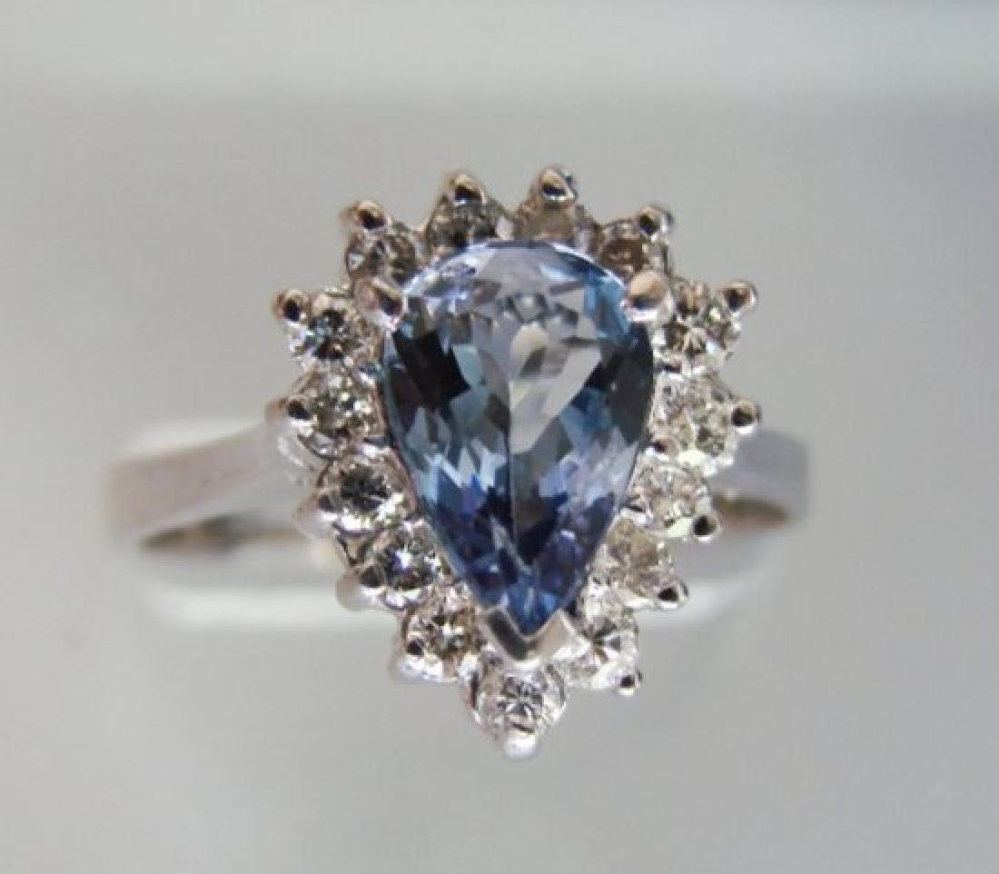 Nature Tanzanite & Diamond Ring 3.60CT14k W/g