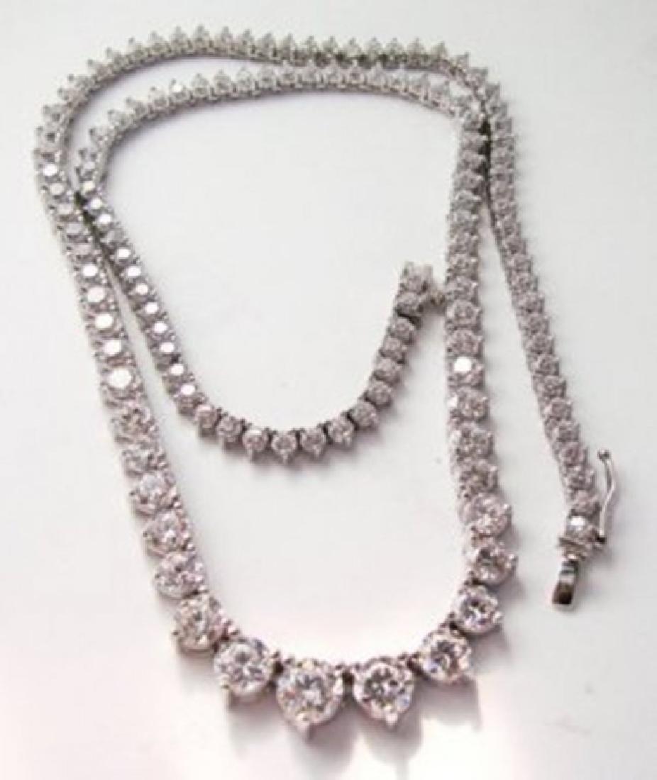 Necklace Diamond Creation 20.00Ct 18k W/g Overlay