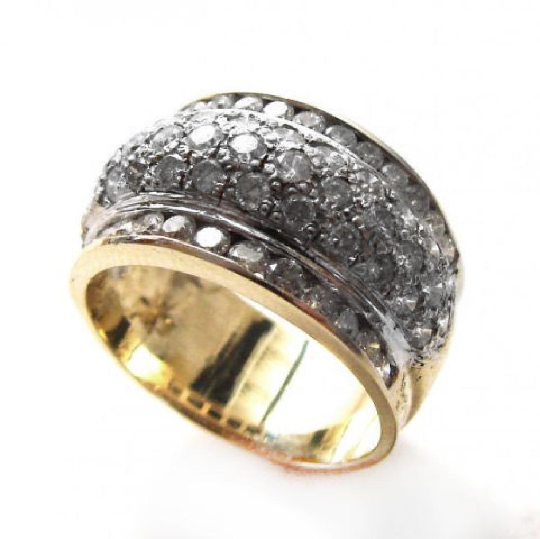 Woman's Diamond Ring 1.72Ct 14k Yellow Gold - 2