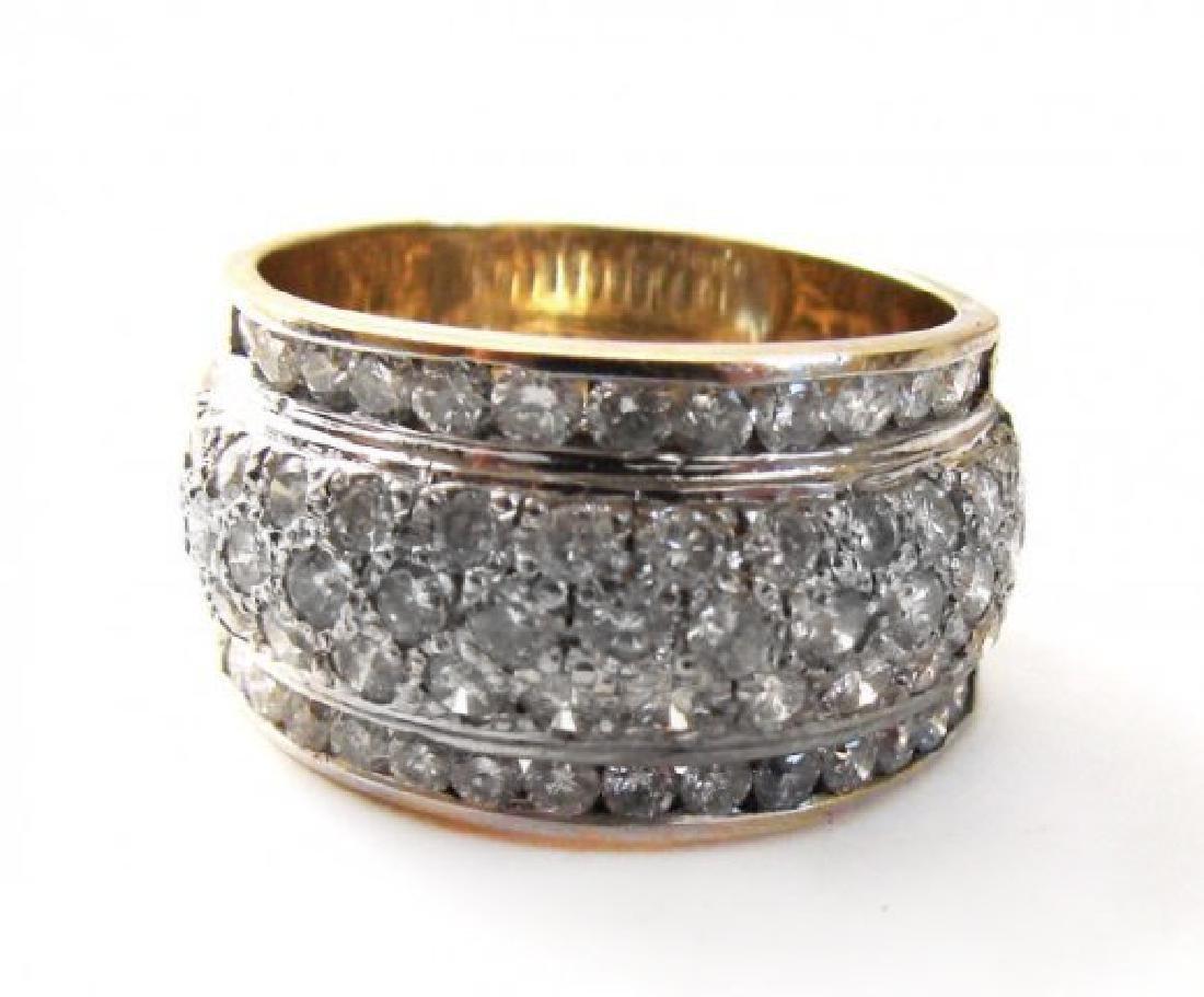 Woman's Diamond Ring 1.72Ct 14k Yellow Gold - 3