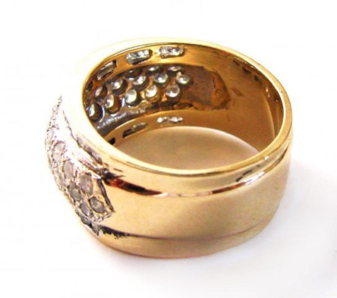 Woman's Diamond Ring 1.72Ct 14k Yellow Gold - 4