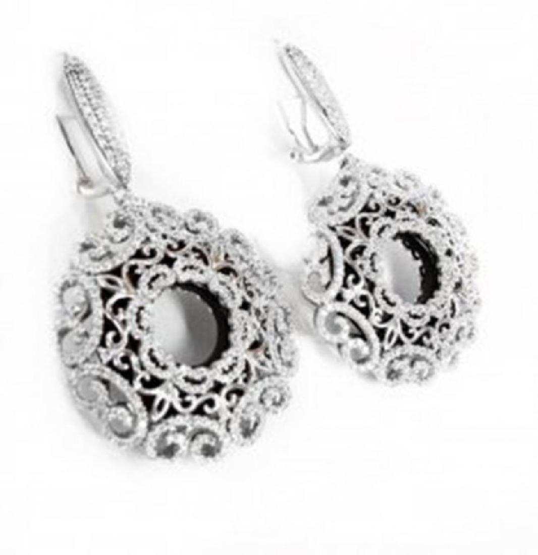 Creation Diamond Chandeliers Earr 24.99Ct 18k W/g Over - 2