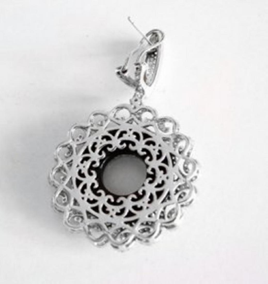 Creation Diamond Chandeliers Earr 24.99Ct 18k W/g Over - 3