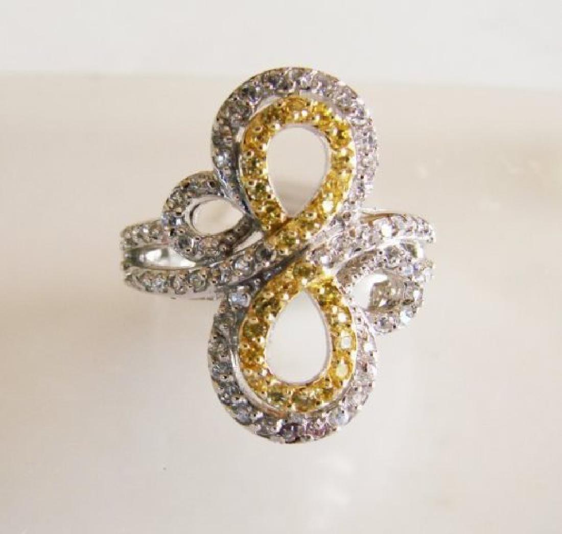 Creation Diamonds Ring 1.25ct 18k W/g Overlay