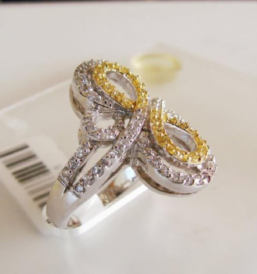 Creation Diamonds Ring 1.25ct 18k W/g Overlay - 2