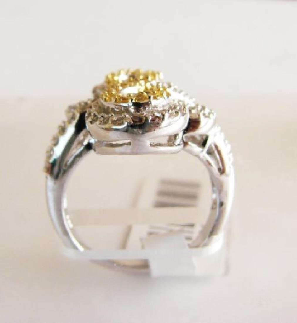 Creation Diamonds Ring 1.25ct 18k W/g Overlay - 3