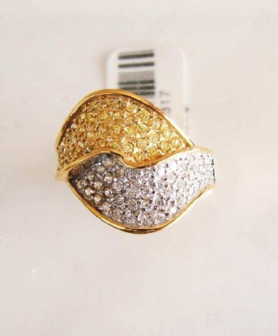 Creation Diamonds Ring 1.00Ct 18k W-Y/g Overlay