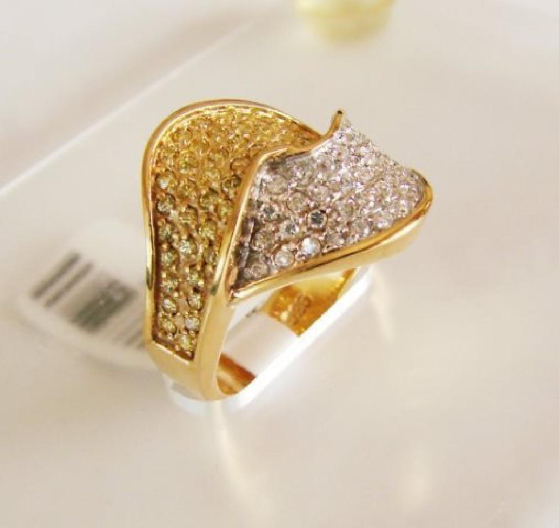 Creation Diamonds Ring 1.00Ct 18k W-Y/g Overlay - 2