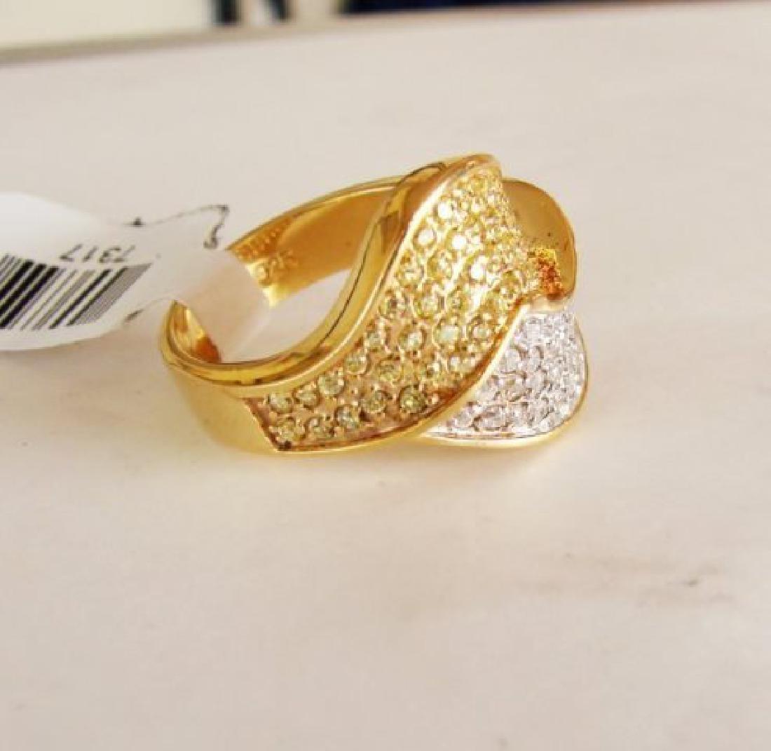 Creation Diamonds Ring 1.00Ct 18k W-Y/g Overlay - 3