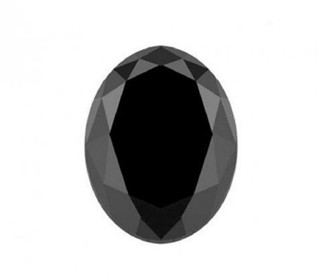Black Diamond Oval Shape 3.76CT10.7x9.1x6.6mm