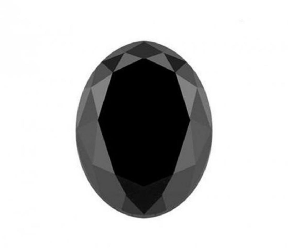 Black Diamond Oval Shape 3.76CT10.7x9.1x6.6mm