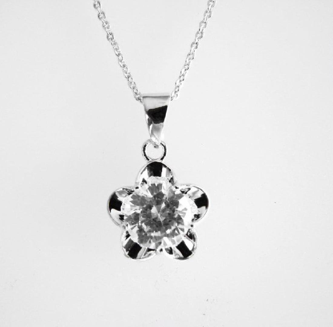 Creation Diamonds Pendant 2.15Ct 18k W/g Overlay