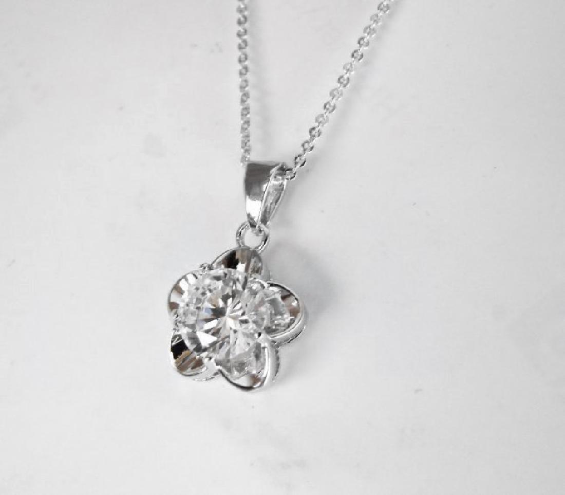 Creation Diamonds Pendant 2.15Ct 18k W/g Overlay - 2