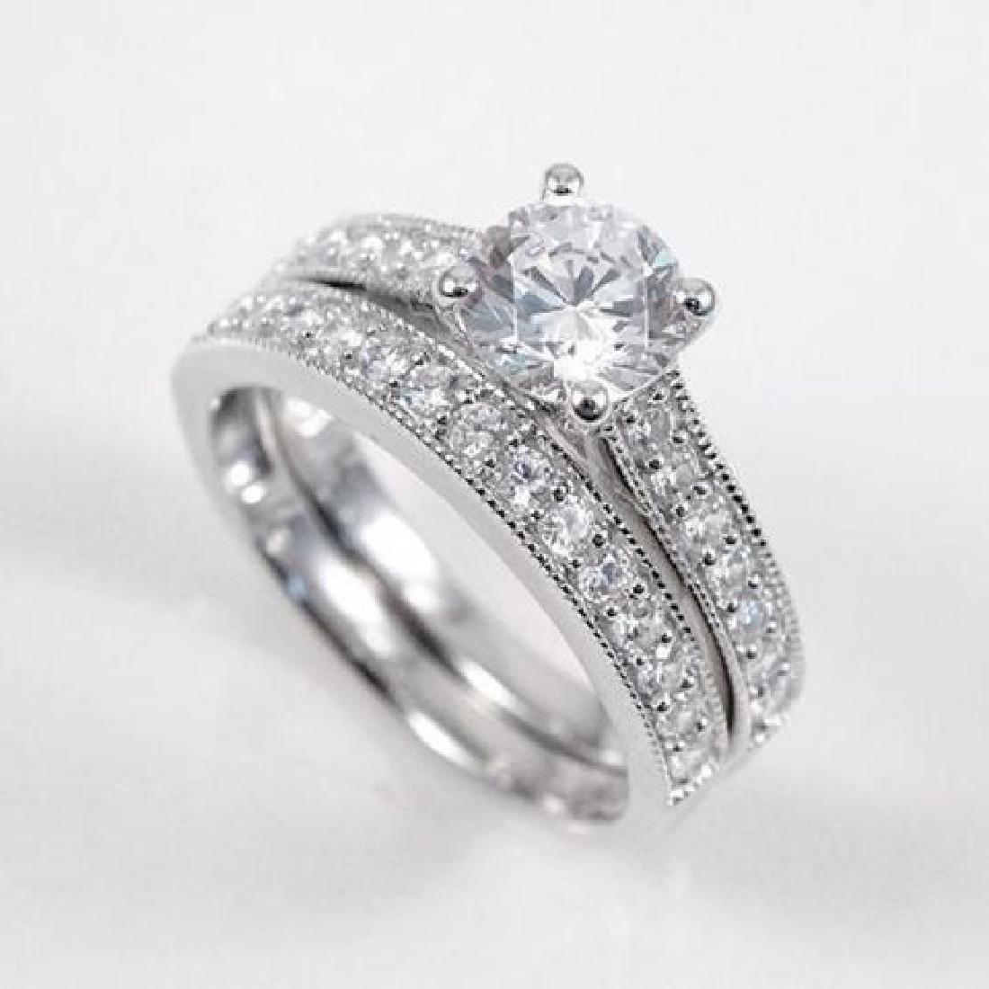 Creation Diamond Ring 1.88 Carat 14k W/g Overlay