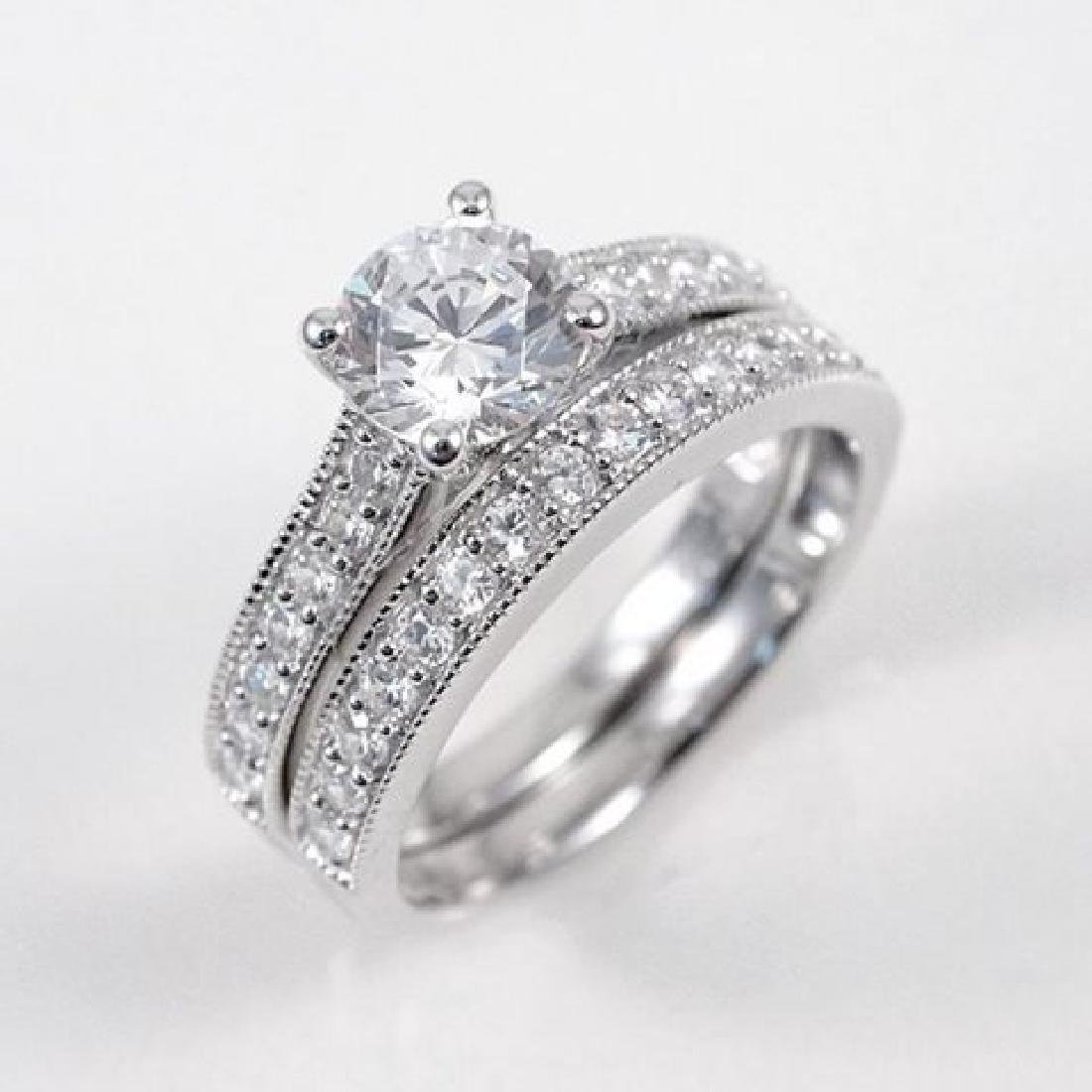 Creation Diamond Ring 1.88 Carat 14k W/g Overlay - 2