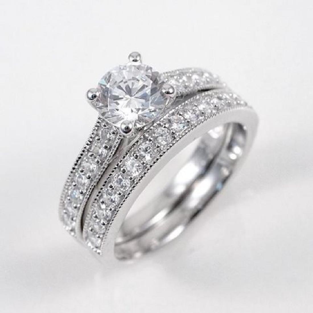 Creation Diamond Ring 1.88 Carat 14k W/g Overlay - 3