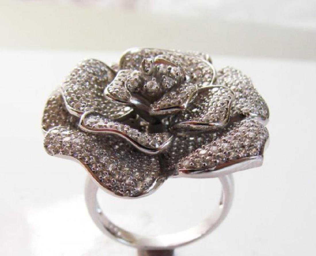 Ceartion Diamond Ring 3.87Ct 18k W/g Overlay - 2