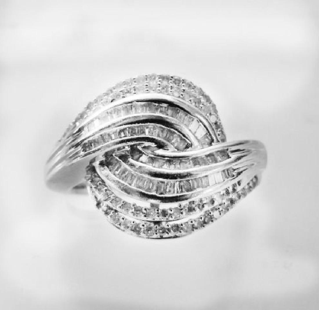 Vintage Diamond Ring 1.68CT 18k W/g Overlay
