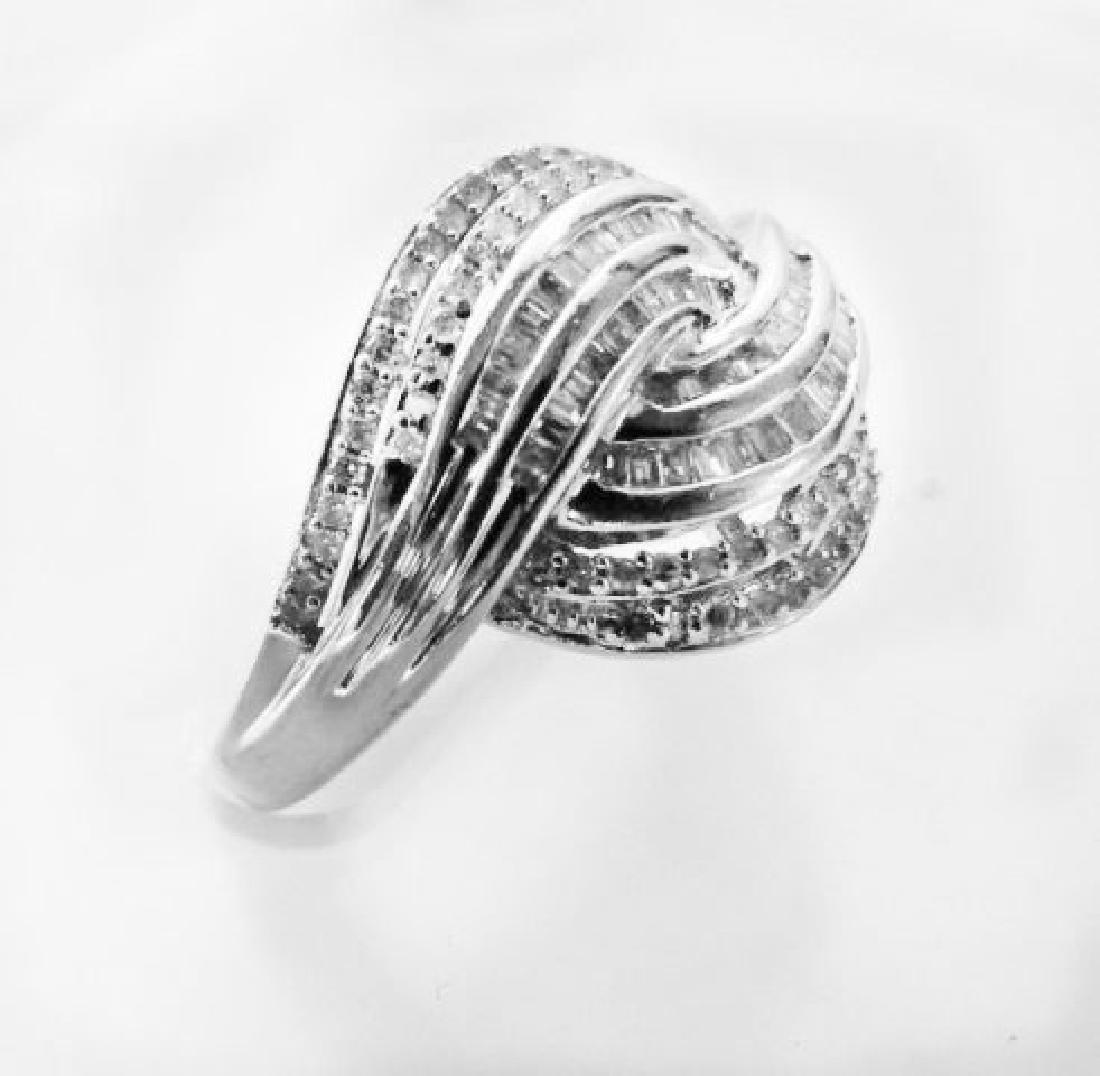 Vintage Diamond Ring 1.68CT 18k W/g Overlay - 2