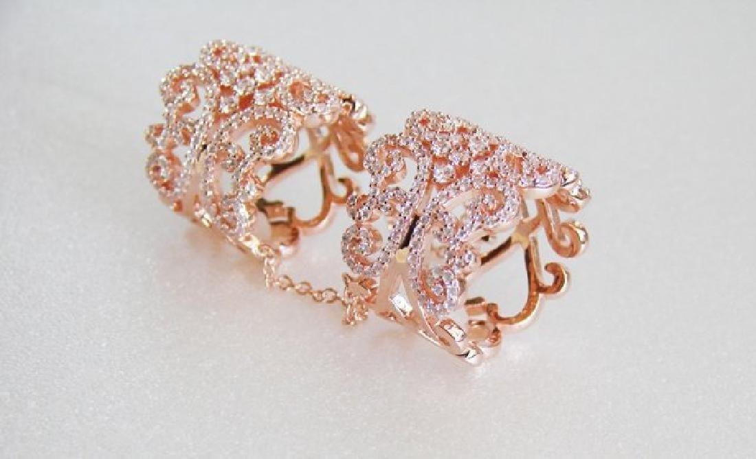 Creation Diamond Stacked Rings 5.12 Ct 18K R/g Overlay - 5