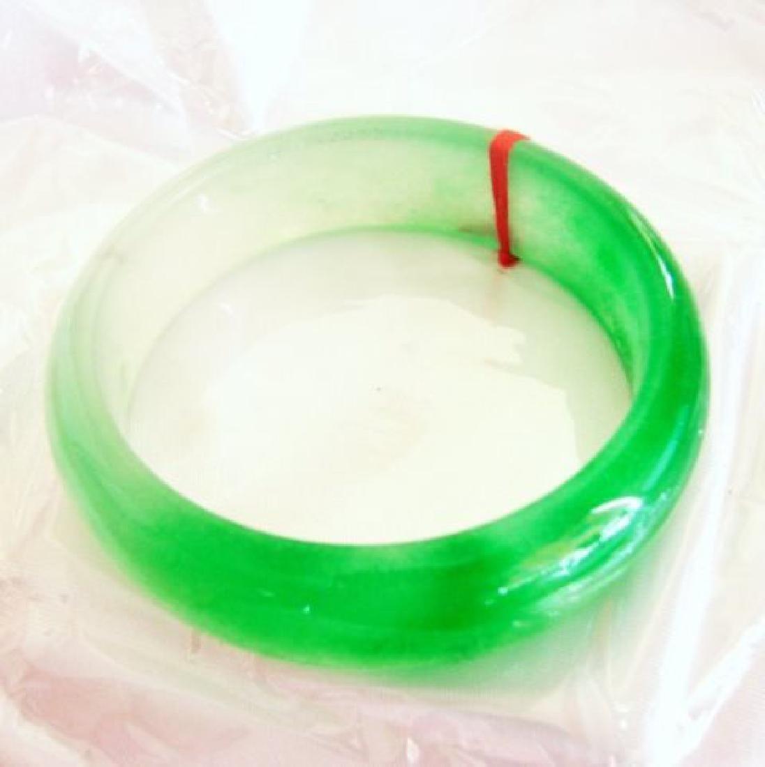Natural Jade Bangle Grade B Size: 7.5