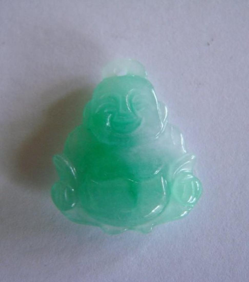 Natural Jade Buddha Figurine Pendants - 2