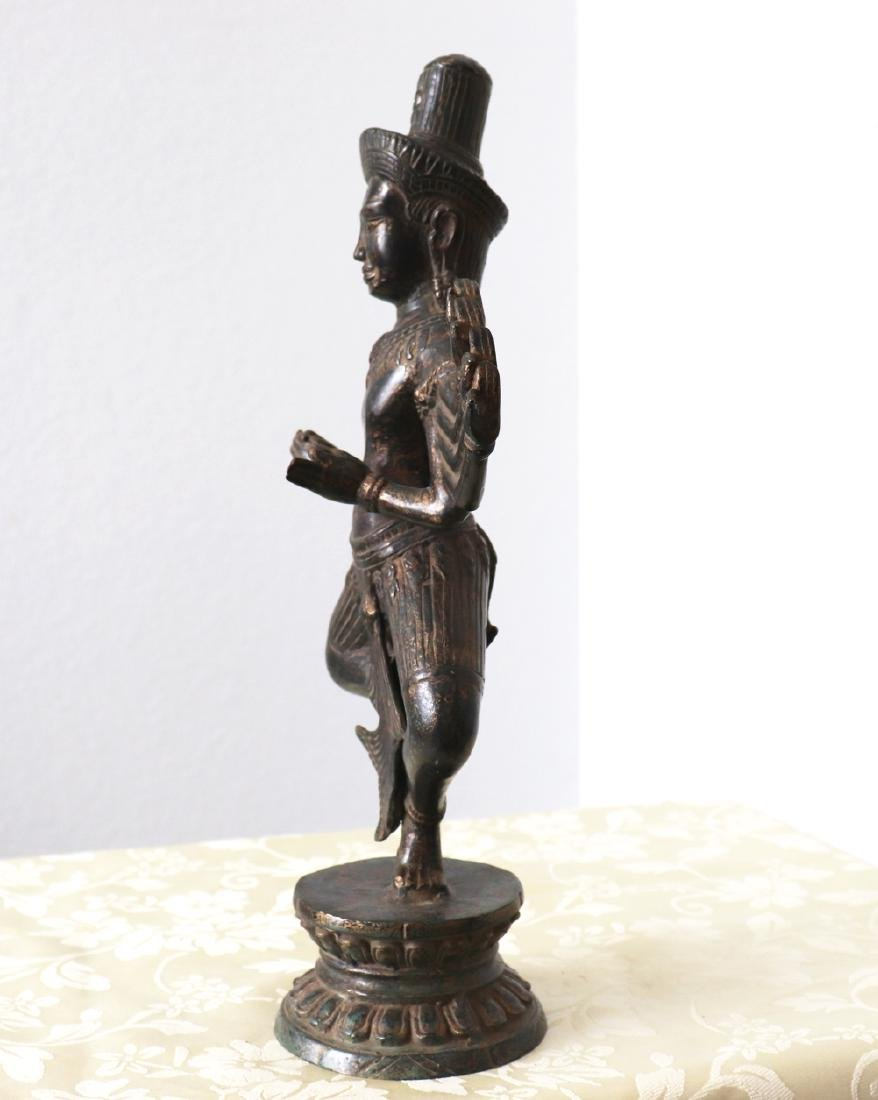 Khmer Angkor,Buddha Brass King Statue 12th Century - 2