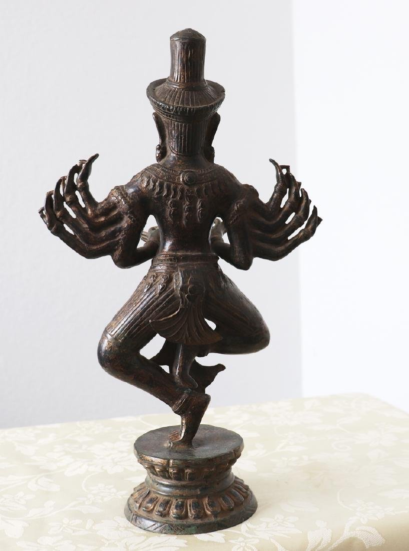 Khmer Angkor,Buddha Brass King Statue 12th Century - 4
