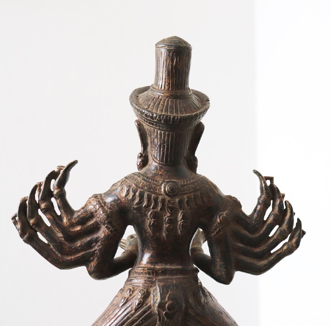 Khmer Angkor,Buddha Brass King Statue 12th Century - 7