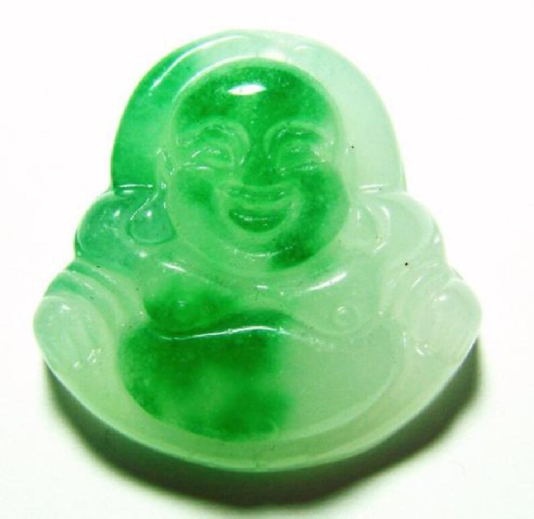 Natural Jadeite Jade Buddha Figurine Pendants Grade: B