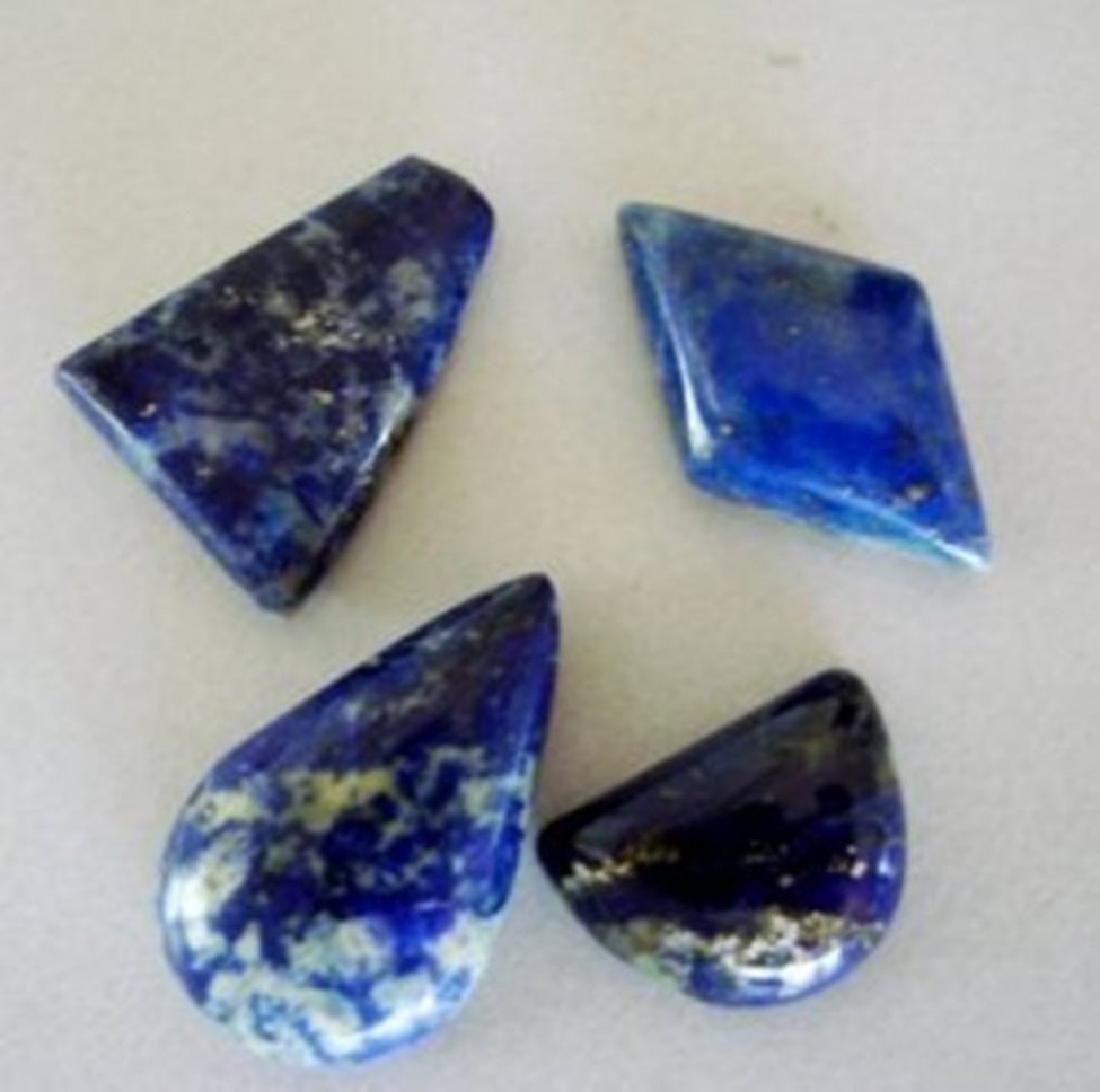Natural Royal Blue Lapis Lazuli Lot 4Pcs/63.03Ct
