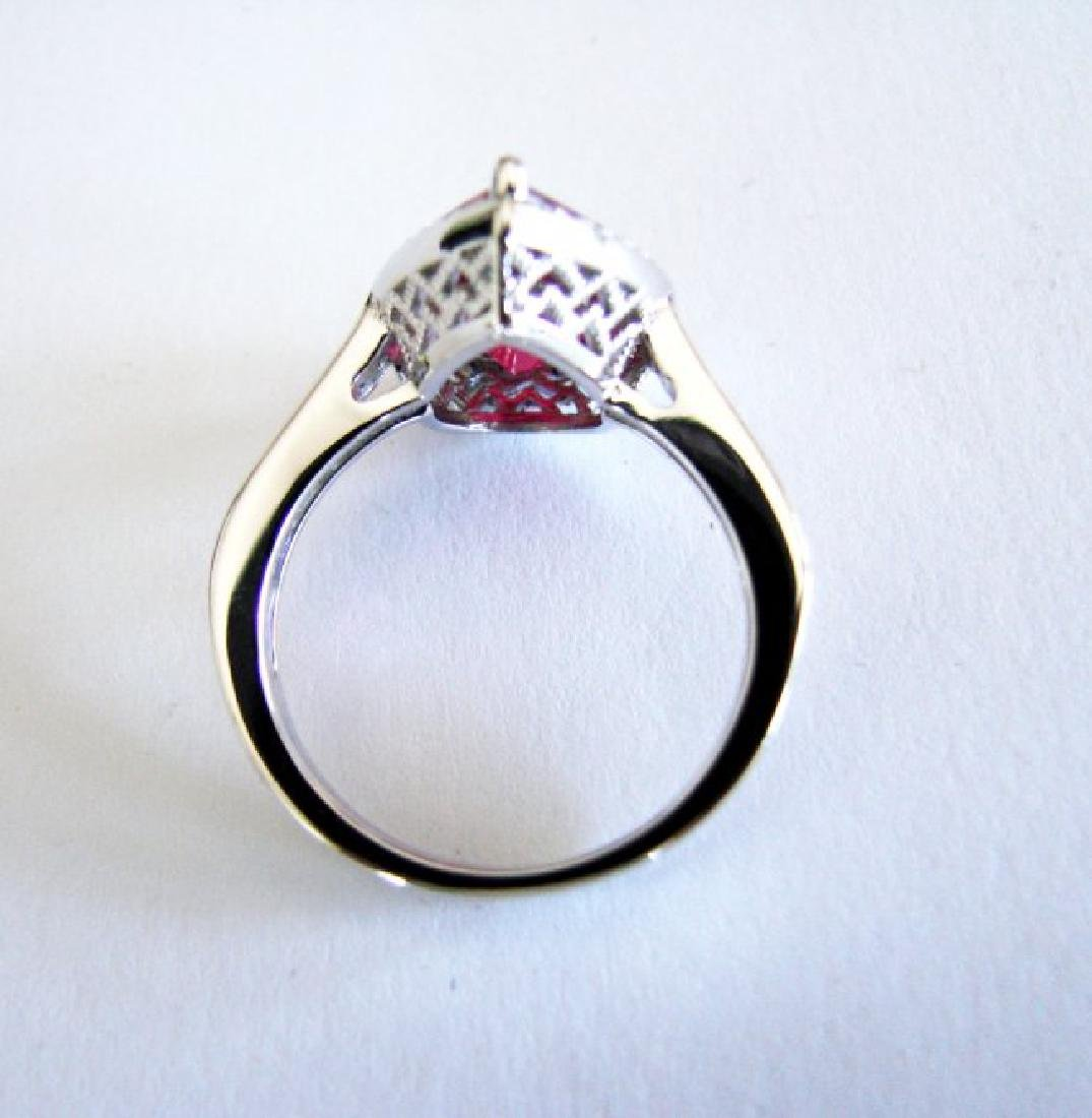 Creation Daimond Ruby Ring 7.16Ct 18k W/g Overlay - 5